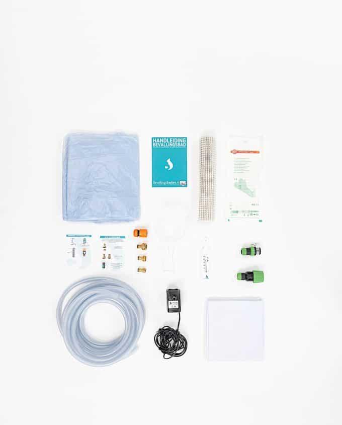 Birthpools comprehensive rental kit for a Birth Pool in a Box birth pool